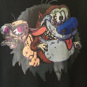 Ren & Stimpy Tee- Cartoon 1991, Chihuahua, Cat